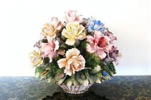 Capodimonte Porcelain Flower Arrangement
