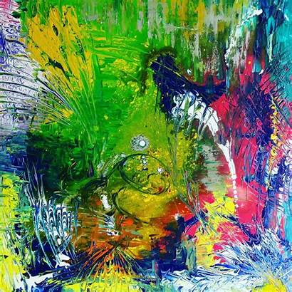 Abstract Painting Therapy Handpainted Paintings Wellness Solution