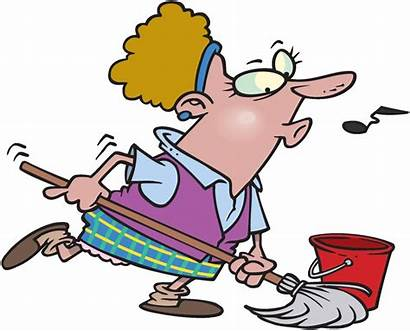 Cleaning Cartoon Woman Lady Clipart Clean Cliparts