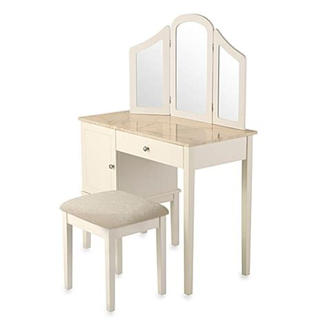 linon home darlington vanity  bench set bed bath
