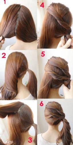 quick ponytail tutorial super easy hair diy step  step