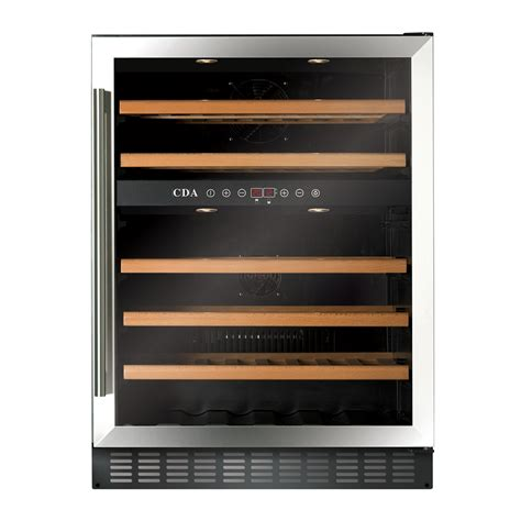 under cabinet wine fridge fwc603ss freestanding under counter wine cooler cda