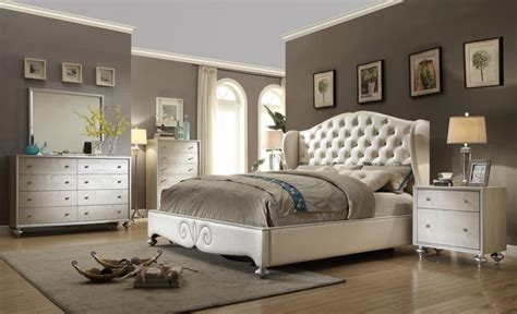 tufted wingback bed button tufted upholstered bed