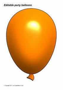 Microsoft Word Templates Free Editable Party Balloon Templates Sb3996 Sparklebox