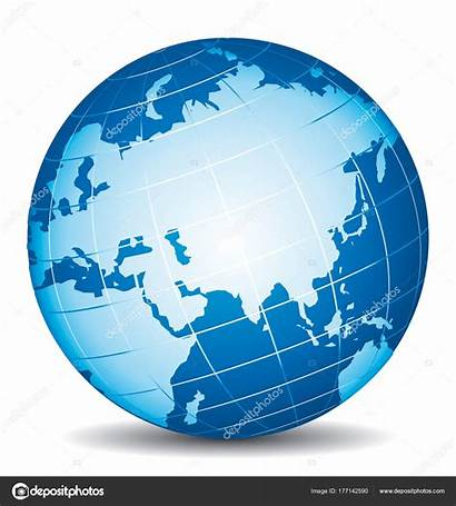Globe Icon Vector Africa Russia China India