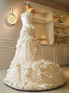 How to make a wedding dress cake modern fashion styles for How to make a wedding dress