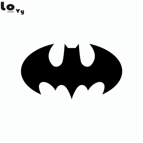 super hero batman silhouette vinyl wall sticker cartoon vinyl wall decal  kids room bedroom