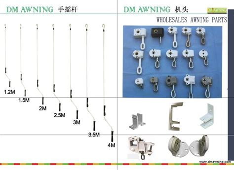 aluminum retractable awning gear box manual handle