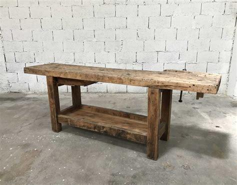 etabli bois ancien ancien 233 tabli de menuisier bois brut