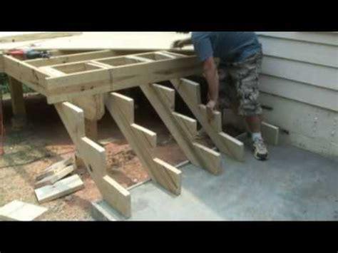 build deck stairs deckscom youtube