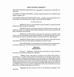 10 joint venture agreement templates free sample With jv agreement template free