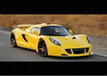 Venom Gt Hennessey Animated Supercar Yellow Cars