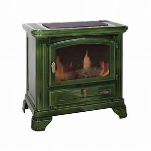 Poele A Bois Petit : po le bois godin petit jurassien vert majolique 7 5 kw ~ Premium-room.com Idées de Décoration