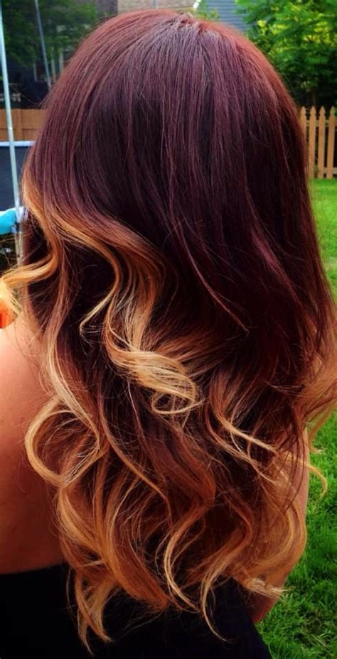 mahogany ombre hair pinterest color combos style