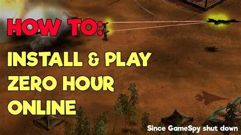 play zero hour generals
