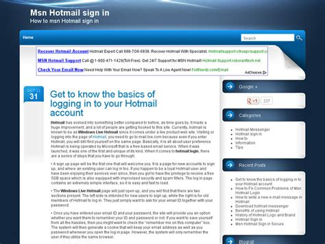 Information About Msnhotmailsignin.com
