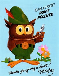 Image result for give a hoot don't pollute