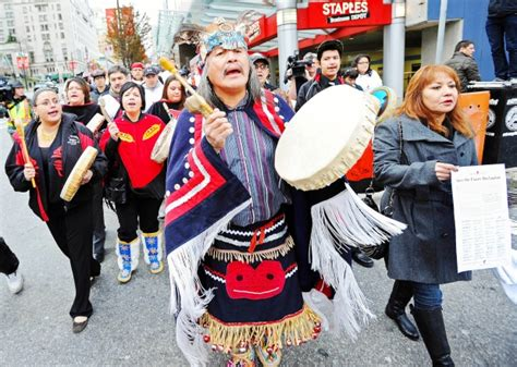 coalition   nations groups march  vancouver