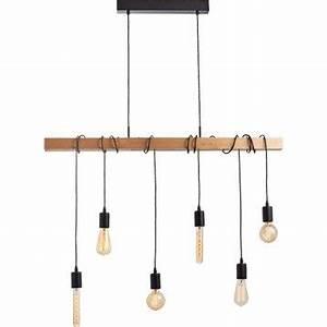 Luminaire Suspension Bois : lustre et suspension leroy merlin ~ Teatrodelosmanantiales.com Idées de Décoration
