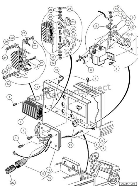 Club Car Controller Diagram by Obc Computer Controller And Solenoid Turf Carryall 2