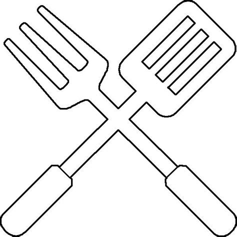 bbq utensil coloring page utensils applique letters