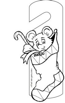 printable christmas stockings filled  toys door hanger  kids coloring pages printable