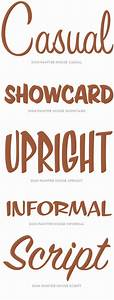 house industries sign painter specimen casual showcard With lettering for signs