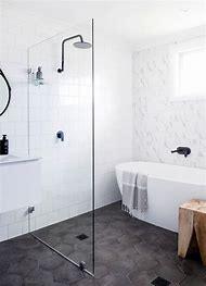 Hexagon Bathroom Tile Shower Floor