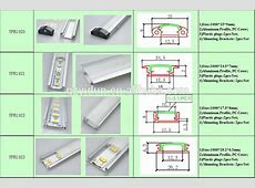 Aluminum Led Strip Lights Profilechannel Trackhousing