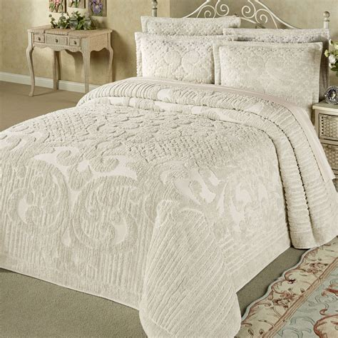 gray king comforter ashton lightweight cotton chenille bedspread bedding