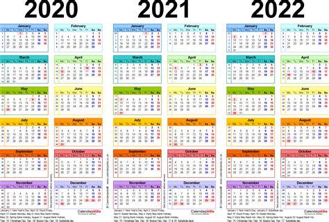 year calendars uk word