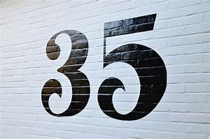 Number 35 - painted house number ~ Steve Blackwell Signs