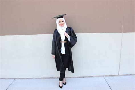 graduation outfit ideas shimmer striped hijab www