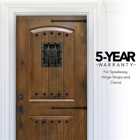 door with door speakeasy hinge straps clavos shank door co