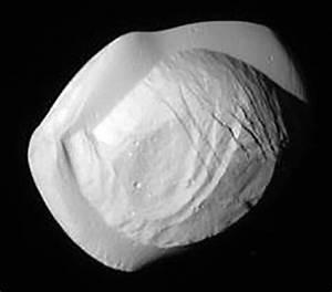 Pan, moon of Saturn, looks like a cosmic ravioli (or maybe ...