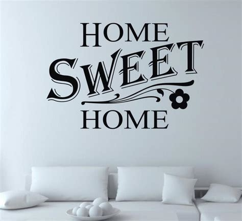 diy home sweet home quote wall sticker living room vinyl