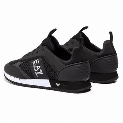 Armani Emporio Chaussures Ea7 Basket Noir Blanc