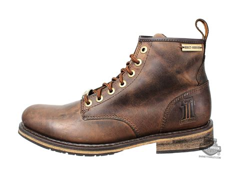 harley boots 93192 harley davidson mens darrol brown leather low cut