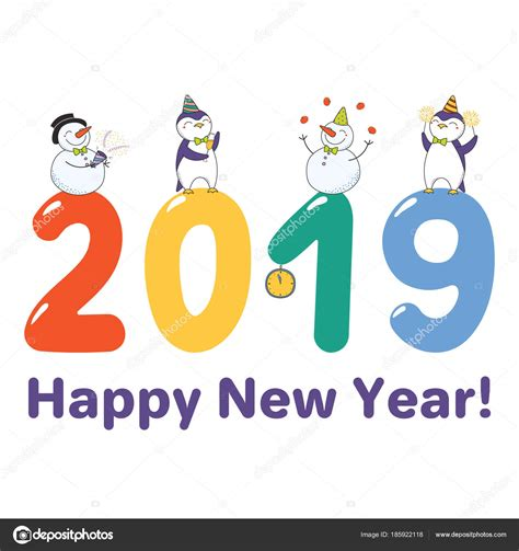 Calendario Kart 2019 Happy New Year 2019 Cards Home Design Decorating Ideas