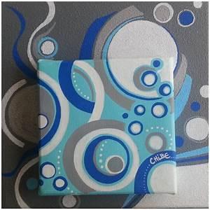 Peinture Blanc Gris : tableau moderne abstrait acrylique sur toile bleue blanc gris art monize31 ~ Nature-et-papiers.com Idées de Décoration