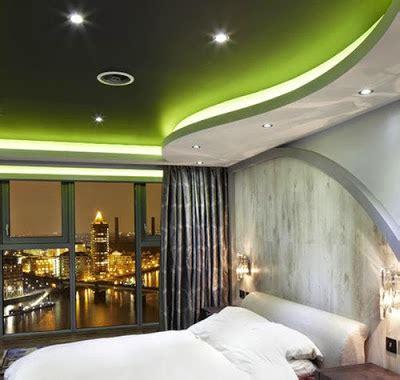 contoh desain plafon modern  kamar tidur terbaru