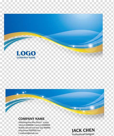 business card blue euclidean icon business card logo