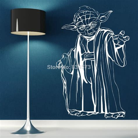 aliexpress buy free shipping yoda wars wall sticker wall decal diy home