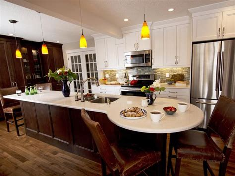 kitchen island with built in table 20 party ready kitchens kitchen ideas design with cabinets islands backsplashes hgtv