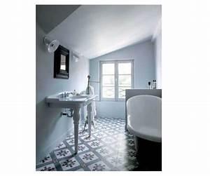 Carreaux De Ciment Salle De Bain : carreaux de ciment bleu et blancs pour la salle de bain ~ Melissatoandfro.com Idées de Décoration