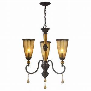 World imports light oil rubbed bronze chandelier with crystal adorned tea stained glass shade