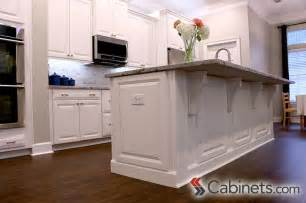 decorative big kitchen island decorative end panels and corbels finish this kitchen