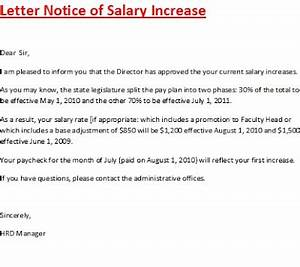 pay increase letter