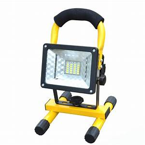 Battery powered portable floodlights : Rechargeable led floodlight portable spotlight movable