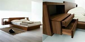Lit Bois Massif Design : mobilier bois massif unique pour les int rieurs contemporains ~ Teatrodelosmanantiales.com Idées de Décoration